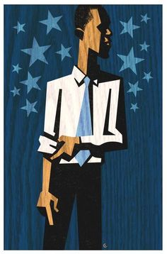 Illustration of Barack Obama by David Cowles
