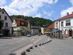 Germany - Landstuhl- Didnt realize how much i miss this place til now. The yellow building on the left is a jewelry store. If u drive behind it that is the way to our old house.