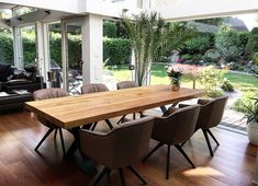 Massivholz Esstische nach Maß von Holzwerk-Hamburg Design Tisch, Outdoor Furniture Sets, Outdoor Decor, Küchen Design, Industrial Style, Sweet Home, New Homes, Dining Table, Kitchen