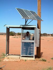 sustainable phone booth in