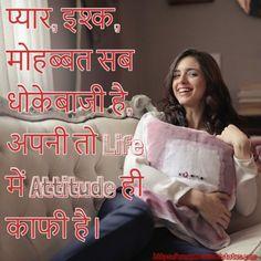 Whatsapp Status For Girls, Attitude Status, Status Hindi, Life