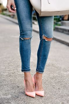 Ripped Denim and Manolo's for Spring!
