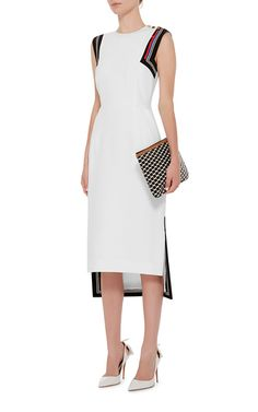 f96b7056a0cd03 White Datany Back Detail Dress by PREEN BY THORNTON BREGAZZI Striped Dress  Outfit, White Dress