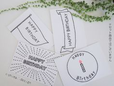 紙刺繍バースデーカード(キャンドル) Birthday Presents, Birthday Cards, Happy Birthday, First Birthdays, Hand Lettering, Cards Against Humanity, Diy Crafts, Nameplate, Messages