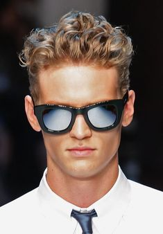 Men's Updos - Hair With Height: Men's Updos - Blond Wavy Hair Wavy Hair Men, Blonde Curly Hair, Boys With Curly Hair, Curly Hair Cuts, Curly Hair Styles, Blonde Man, Teenage Boy Hairstyles, Boys Curly Haircuts, Teen Boy Haircuts