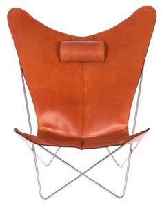 OxDenmarq Armchair KS Chair - Stainless Steel Frame - Leather - Hazelnut |  https://designonline24.nl