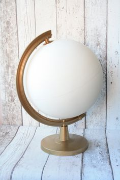 Wedding Guestbook Alternative Globe Cream or by LoobieDesign
