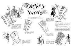 Zips & Darts: Dickey Birds - Easy to Make Dickies from the Spool...
