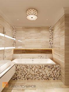 Фото: Дизайн ванной - Квартира в стиле американской неоклассики, ЖК «Академ-Парк», 107 кв.м.