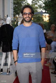 #MatteoBranciamore ospite dell'evento Ferrone, Villa Laetitia, Roma. Total look #Hosio