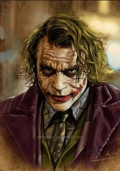 The Dark Knight - Heath Ledger - The Joker Der Joker, Joker Heath, Joker Art, Joker Batman, Heath Ledger Joker Pics, Heath Ledger Joker Wallpaper, Joker Cartoon, Gotham Joker, Joker Clown