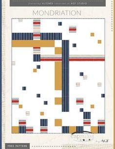 Mondriation Quilt Pattern by AGF Studio