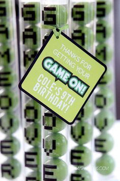 GAME TRUCK Gamer Birthday Party Personalized Favor by lulucole