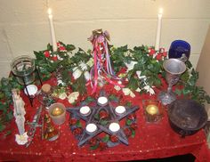 The Wiccan Life: Celebrating Beltane.  Beltane Altar