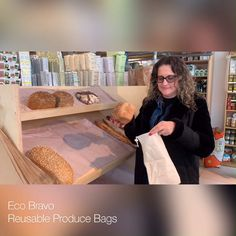Reusable Produce Bags - Reduce, Reuse, Recycle - Our eco-friendly bags are here. They are a great alternative to storing and carrying all of your gr - # Zero Waste Grocery Store, Supermarket Design, Eco Friendly Bags, Reduce Reuse Recycle, Produce Bags, Jute Bags, Fabric Bags, Cotton Bag, Store Design