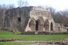 Haughmond Abbey, Shropshire, UK - view of Cloister