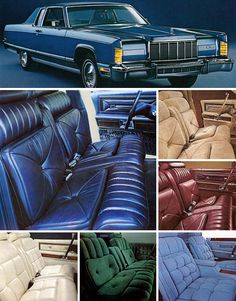 Lincoln cars and interiors of the 1970s.