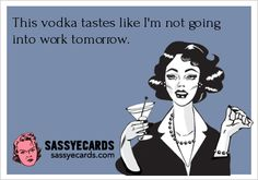 This vodka tastes like...