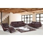 Vig Furniture - BO-3979 Espresso Leather Sofa Set - VGBNSBO3979BRWN   SPECIAL PRICE: $2,085.00