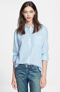 Equipment 'Margaux' Pinstripe Cotton Shirt