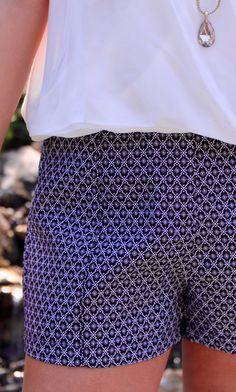Preppy Print Shorts