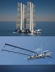 French designer Yelken Octuri (he also makes Airbus cabins) decided to take us back in time with a bit of old school Wright Brothers influence on his latest concept yacht. And while most of the crazier designs on this list will never enter into the actual production phase, Octuri's has already had some offers.