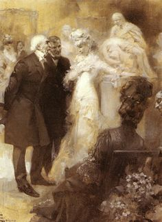 René Lelong, Sarah Bernhardt Conversing with William Gladstone at Her London Exhibition of 1879 - Pictify - your social art network Women In History, Art History, Sarah B, Social Art, Thing 1, Gladstone, Post Impressionism, Art Model, Belle Epoque