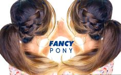 AWESOME French BRAID Ponytail Hairstyle ★ Waterfall Braid Hairstyles - this woman only does a partial but I like how she does an underhanded dutch style which may be easier when doing this on your own hair