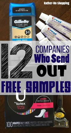 Who doesn't love free samples by mail? Here are the companies that currently send out free products for you to test out. Often there are NO strings attached. samples These 12 Companies Happily Send Out Free Samples by Mail Free Samples By Mail, Free Makeup Samples, Free Stuff By Mail, Get Free Stuff, Free Baby Stuff, Free Product Samples, Free Baby Samples, Free Sample Boxes, Freebies By Mail