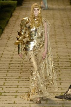 John Galliano for Christian Dior Egyptian gold armour