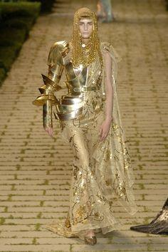 John Galliano for Christian Dior Egyptian gold armour