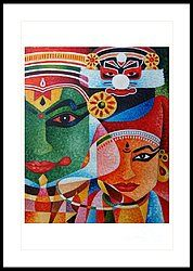 Different Faces Painting - Kathakali by Thomas M Ouseph Indian Artwork, Indian Folk Art, Indian Art Paintings, Art And Illustration, Illustrations, Art Sketches, Art Drawings, Kerala Mural Painting, Durga Painting