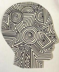 interesting op art idea, I would like to use it in a sketchbook