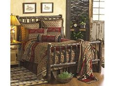 I would love to have a guest room made up in cabin style.  I think I would take advantage of it from time to time.  Especially a hickory bed.  Black Forest Decor Queen $1299.95