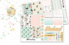 Planner Sticker Weekly Kit Hummingbird for your Erin Condren Life Planner, Plum…