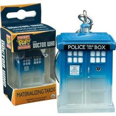 [Doctor Who: Pocket Pop! Keychain: Materialising TARDIS (Product Image)]