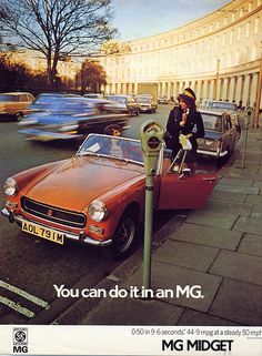 MG Midget  : You can do it! by daviddb, via Flickr