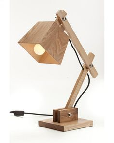 Contemporary Wooden Bedside Table Reading Lamps for Bedroom