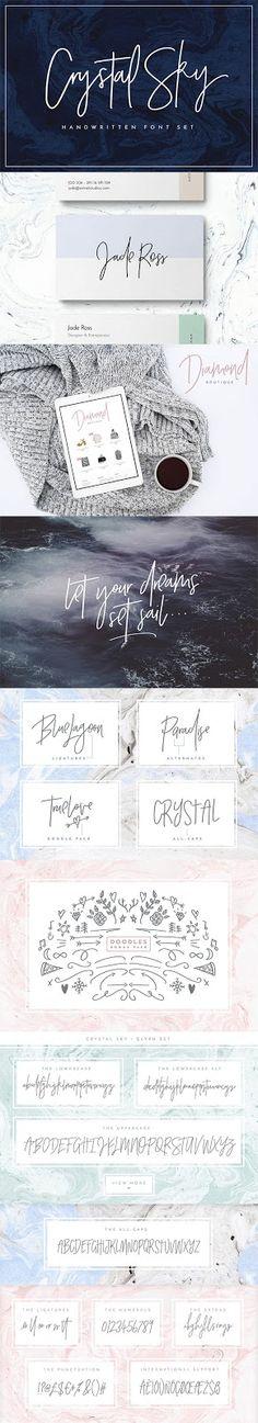 crystal sky font