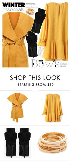 """""""Bright yellow"""" by vanjazivadinovic ❤ liked on Polyvore featuring Yves Saint Laurent, Kenneth Jay Lane, polyvoreeditorial and zaful"""