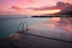 Towradgi Ocean Pool at sunset. Find us on Facebook - Chilby Photography Visit: www.chilby.com.au