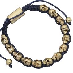 Original handmade jewelry hand woven Bracelet skull head punk bracelet   wholesale