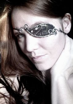 Steampunk Pirate  WireWork and Lace Eyepatch by Sarlume on Etsy, $20.00