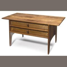 Sam Maloof (American, Two drawer cabinet, circa 1970 Fine Woodworking, Woodworking Ideas, Sam Maloof, Table Desk, Dressers, Furnitures, Wood Furniture, Home Projects, Craftsman