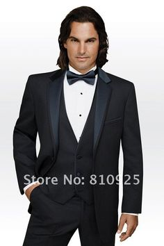 customed made suits black for men!mens suit for wedding/dinner,groom wear black,3 piece suits-in Suits from Apparel & Accessories on Aliexpress.com
