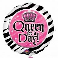 """Queen for a day 18"""" foil balloon. All our foil balloons can be made into bouquets. Follow us for more ideas"""
