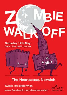 Zombie Walk Off Poster, Norwich https://www.facebook.com/events/628835680530666/  Poster designed by http://www.elhorno.co.uk/