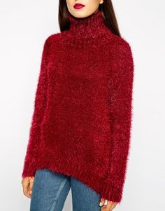 Enlarge Goldie Country Roll Neck Fluffy Jumper