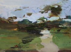 English Garden #27 - Oil on wood, 22 x 30 cm. Private Collection