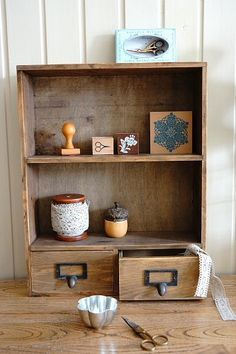 This is super cute antique style wood organizer shelf drawer,Perfect for decorating your home or sho…